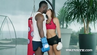 Sporty French Boxer Clea Gaultier Gets Nailed Doggy By Bbc Owner