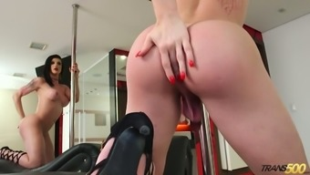 Hot Brazilian Ladyboy Victoria Carvalho Loves To Wank Her Own Big Cock