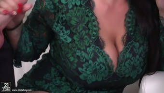 Anissa Jolie Is A Fantastic Big Breasted Cowgirl Who Enjoys Double Penetration