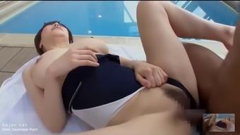Japanese Anri Okita Pool Fucking