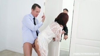 A Young Man Fucks His Sexy Milf Stepmom Before The Wedding