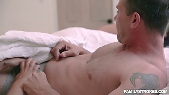 Lustful Stepdaughter Sheena Ryder Gives A Tugjob In Front Of Sleeping Mommy
