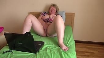 Mature Busty Bbw Milf With Hairy Cunt, Masturbation On Webcam, Orgasm