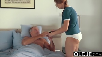 Young Teenie Sensual And Romantic Sex With Older Friend