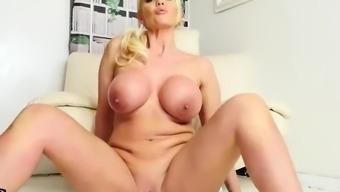 Blonde Milf Lucy Zara Strips Off Panties Leggings For Naked Dildo Fucking Joi