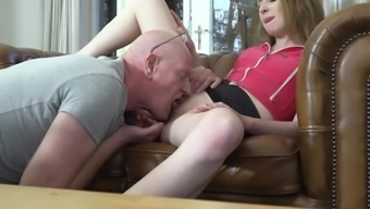 Hardcore Pussy Fucking And Cumshot In Mouth For A Sexy Teen From Old Man