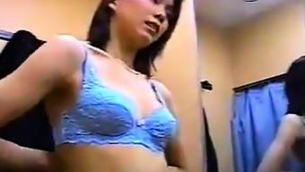 Japanese Girl In A Dressing Room