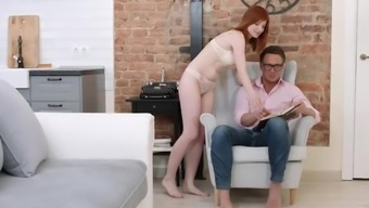 18videoz - Lili Fox - Redhead Taking Her First Anal
