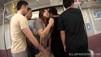 Stunning Asian Babe Gets Fucked In A Public Bus By Disgusting Men