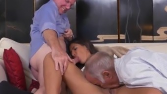 Young And Old Indonesian And Old Fatty And Old Man Fucks Young Slut And