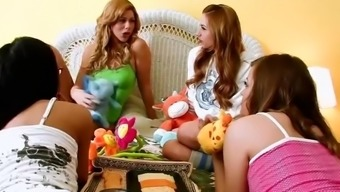 Twistys - Cute Teen Brooklyn Lee And Lexi Belle Have Fun At The Sleepover