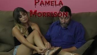 Hot Teen Sorority Cute Girl Makes Him Obey - Pamela Morrison - Femdom