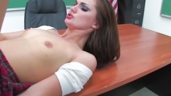 Lily Got Detention For Being A Naughty Girl And Decides To Fuck Her Classmate