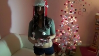Squirting Christmas Moments With Lily