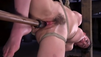 Tied Up Girl With Hairy Pussy Is At The Mercy Of Dominant Man