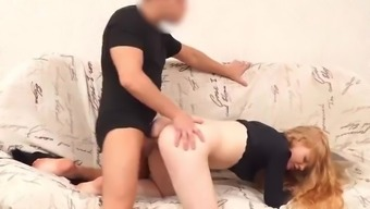 Debt4k. Ginger Sucks Cock And Spreads Legs After Takes A Loan For New Tv