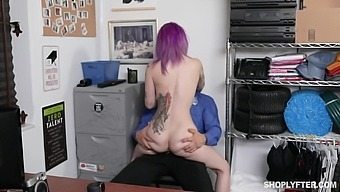Kinky Security Guy Punished Shoplifting Teen Goth Val Steele