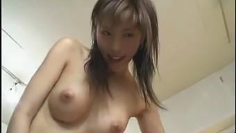 Riko Tachibana Big Tit Japanese Hot Threesome Blowjob + Cowgirl