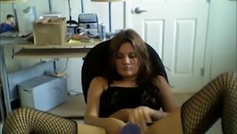 Beautiful Home Webcam Teenager Slut Dildos Herself Off