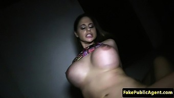 Busty Euro Swallows Cum For Cash