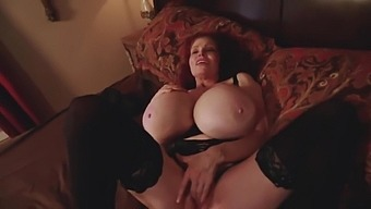 Big Titted Mature With Red Hair, Teddi Barrett Is Toying Her Pussy And Moaning While Cumming