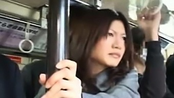Real Publicsex Asian Gives Hj On The Bus
