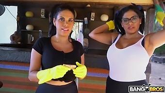 Mature Maids Sheila Ortega And Kesha Ortega Enjoy Having A Ffm Threesome