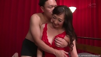 Amateur Fucking On The Bed With Cute Otowa Ayako In Red Lingerie