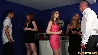 Clothed Matures In Scenes Of Insolent Cock Sharing Cfnm Porn