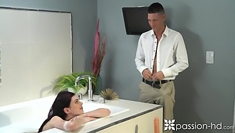 Slim Girlfriend Audrey Grace Plays With Her Favorite Sex Toy Before Passionate Sex With Bf