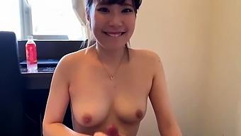 Ruri Narumiya Japanese Teen Gives Pov Blowjob