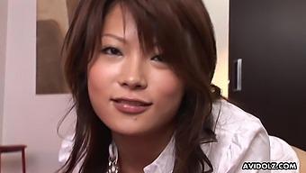 Japanese Brunette, Yuuna Yano Sucked Dick, Uncensored