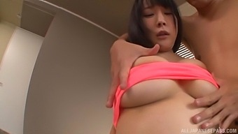 Busty Japanese Girl Hanyuu Arisa Enjoys Getting Fucked On The Bed