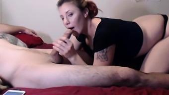 Amateur Teen Girlfriend Enjoys A Big Cock