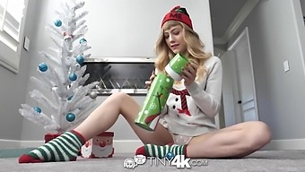 Skinny Babe Ivy Wolfe Swallows Balls And Sucks A Huge Cock On Xmas Eve