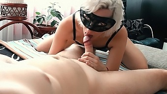 Lyla Lee Teasing, Sucking And Edging A Cock. The Result Is A Big Cumshot.