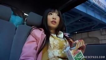 Hot Ass Japanese Chick Arisa Nakano Gives A Blowjob To A Stranger
