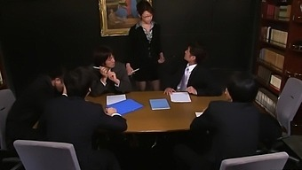 Maki Hojo Severe Sex In Group With Her Work Colleg