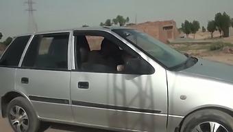 Sadaf Aunty, Outdoor Lap With A Big Disk
