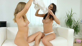 Gia Mulino Gets Her Wet Pussy Fingered By Naughty Jenny Diamond