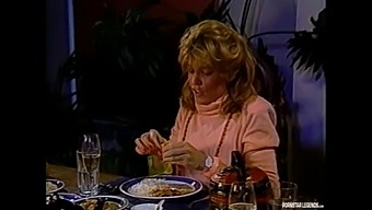 Pornstar Legend Rhonda Jo Petty Starts A Food Fight And Fucks Alan Adrian On Table