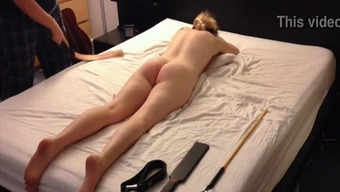 Amateur Brown Youngster Spanking Session, Fasten Thrash Paddle