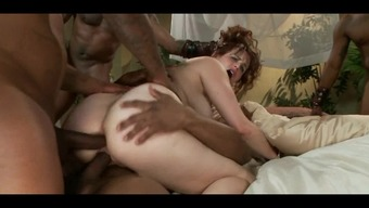 Redheaded In Very Difficult Hard Interracial Gangbang With The Use Of Creampie