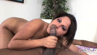 Attractive Young Brunette Jasmine Intensity Blows A Large Beyond Compare Streak