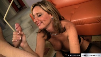 Ralph Very Long Gives The Busty Mama Jodi East A Good Beating Located On The Settee