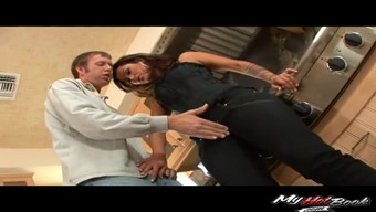 Horny Housewife Attacks A Plumbing Contractor To Produce A Great Shagging Workout