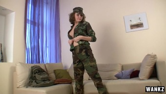 Soldiers Brat Abby Fucks Her Butt With The Use Of Vibrator