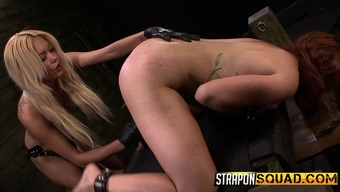 Increased Red Tyrell Has Mila Blaze Drilling Her Hot Peach By Using Intercourse Things
