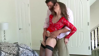 Unusual Old Cuckold Films The Same Way As His Slutty Dark Hen Swallows Another Ripe Cock