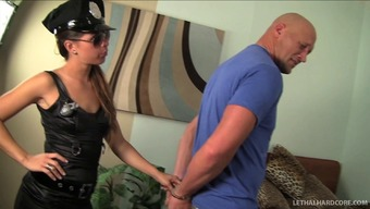 Indecent Policemen Lady Arrests A Suitable Stud Poker To Really Pump His Middle Lower Body Hard Against Her Starved Pussy